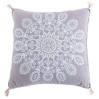 Spruce Spa Print Tassel Throw Pillow