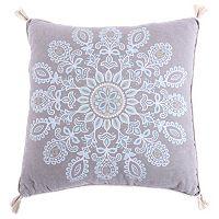 Spruce Spa Print Tassel Throw Pillow