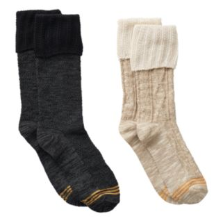 Girls GOLDTOE 2-pk. Cable Lace Boot Socks