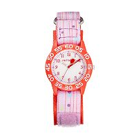 Red Balloon Kids' Time Teacher Polka Dot & Striped Watch