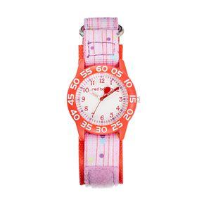 Red Balloon Kids' Time Teacher Polka Dot & Striped Watch