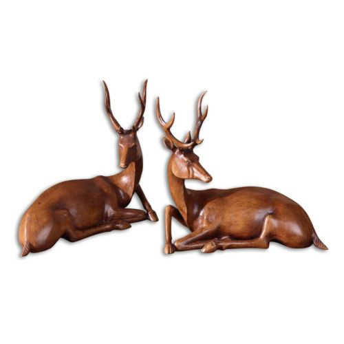 Buck Statue Table Decor 2-piece Set