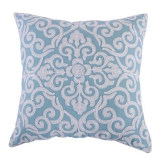 Architectural Crewel Throw Pillow