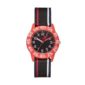 Red Balloon Kids' Time Teacher Striped Watch