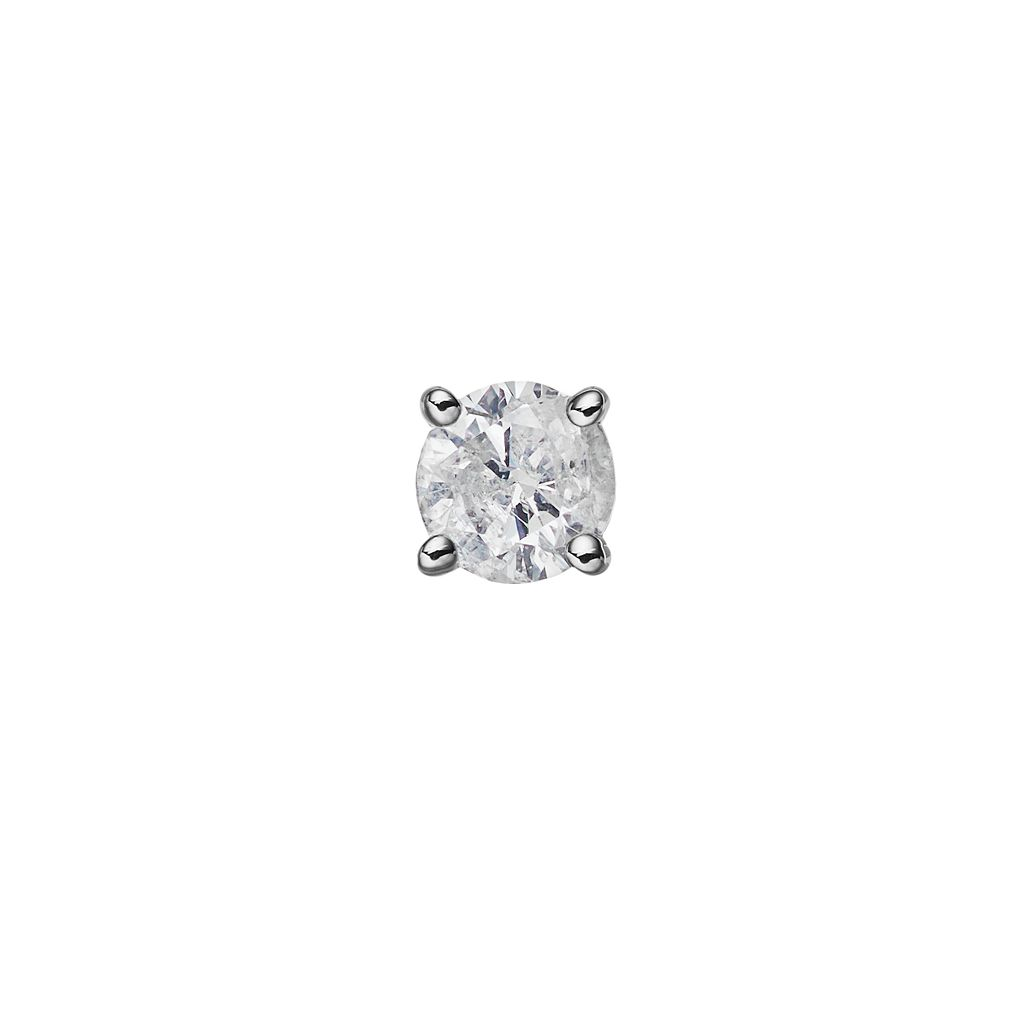 14k White Gold 1/10 Carat T.W. Diamond Stud - Single Earring