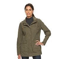 Women's Sebby Collection Hooded Utility Jacket