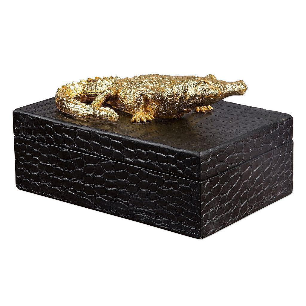Faux Crocodile Box Table Decor