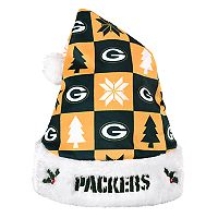 Forever Collectibles Green Bay Packers Christmas Santa Hat