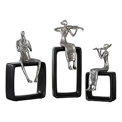 Musical Ensemble Decorative Table Decor 3 pc Set