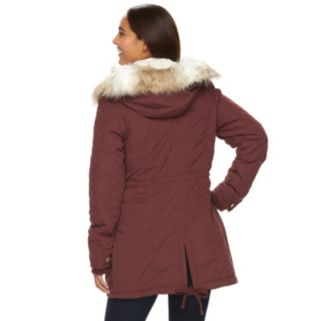 Women's Sebby Collection Hooded Anorak Parka
