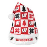 Forever Collectibles Wisconsin Badgers Christmas Santa Hat
