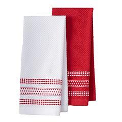 Farberware Dobby Dots Kitchen Towel 2-pk.