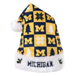 Forever Collectibles Michigan Wolverines Christmas Santa Hat