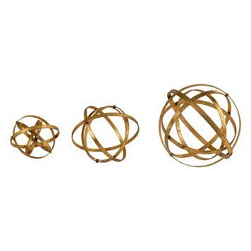 Stetson Sphere Metallic Table Decor 3-piece Set
