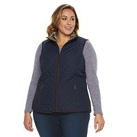 Plus Size Weathercast Quilted Vest