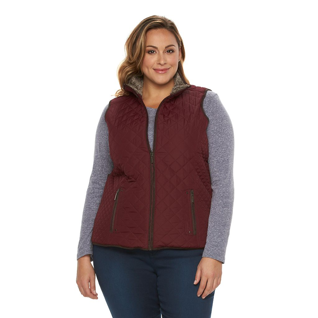 Plus Size Weathercast Quilted Vest