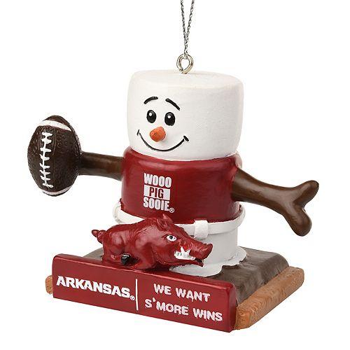 Forever Collectibles Arkansas Razorbacks S'more Snowman Christmas Ornament - Forever Collectibles Arkansas Razorbacks S'more Snowman Christmas