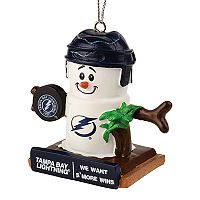 Forever Collectibles Tampa Bay Lightning S'more Snowman Christmas Ornament