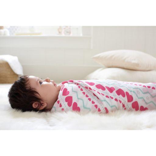 aden by aden + anais SwaddlePlus 4-pk. Baby Girl Muslin Swaddles