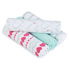 aden by aden + anais SwaddlePlus 4 pkBaby Girl Muslin Swaddles