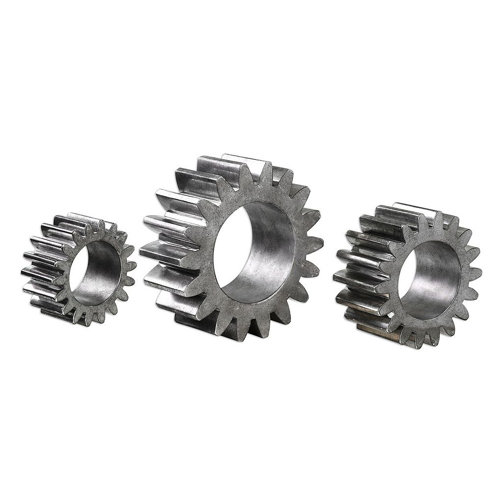 Gear Decorative Table Decor 3-piece Set
