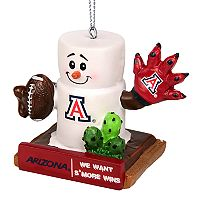 Forever Collectibles Arizona Wildcats S'more Snowman Christmas Ornament