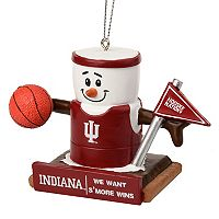 Forever Collectibles Indiana Hoosiers S'more Snowman Christmas Ornament
