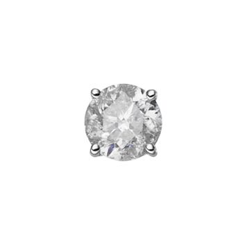 14k White Gold 1/2 Carat T.W. Diamond Stud - Single Earring