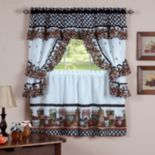 Mason Jars 5 pc Swag Tier Cottage Kitchen Curtain Set