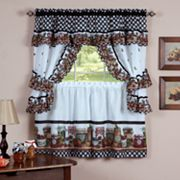 Mason Jars 5 pc Swag Tier Cottage Kitchen Curtain Set