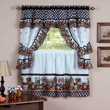 Mason Jars 5-pc. Swag Tier Cottage Kitchen Curtain Set