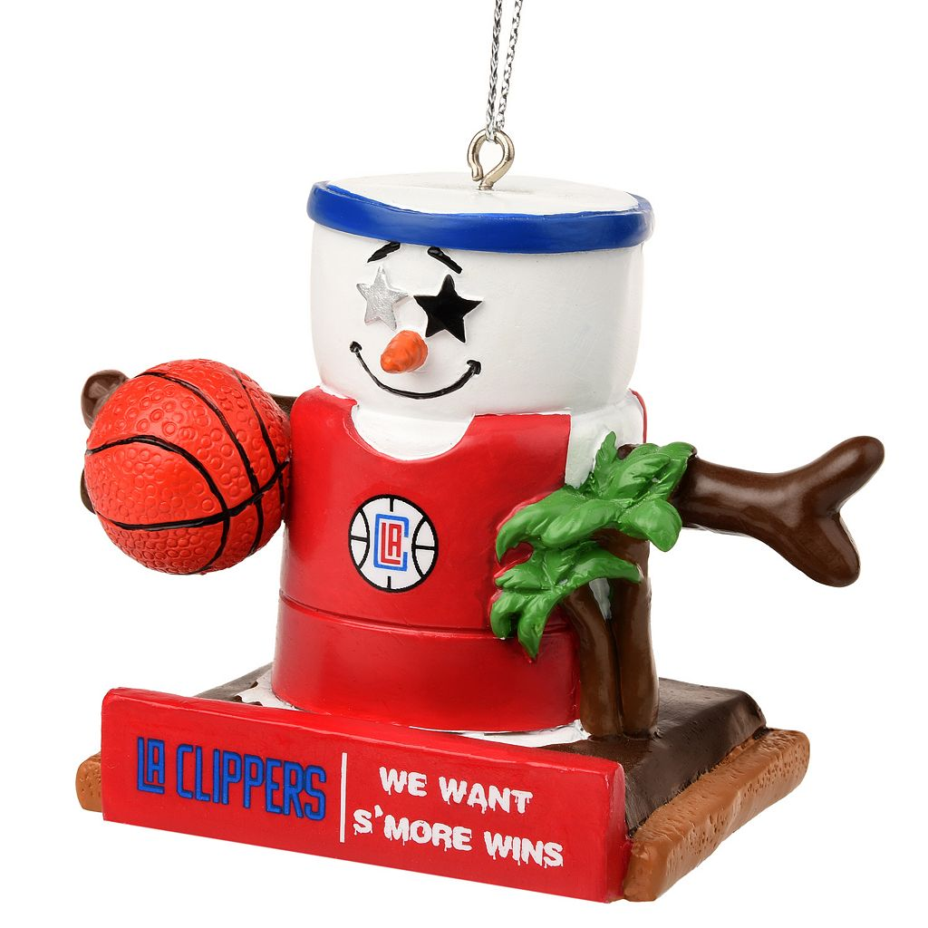 Forever Collectibles Los Angeles Clippers S'more Snowman Christmas Ornament