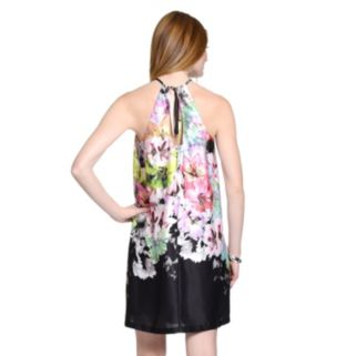 Women's Indication by ECI Floral Halter Shift Dress