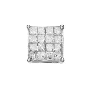 14k White Gold 1/2 Carat T.W. Diamond Stud - Single Earring