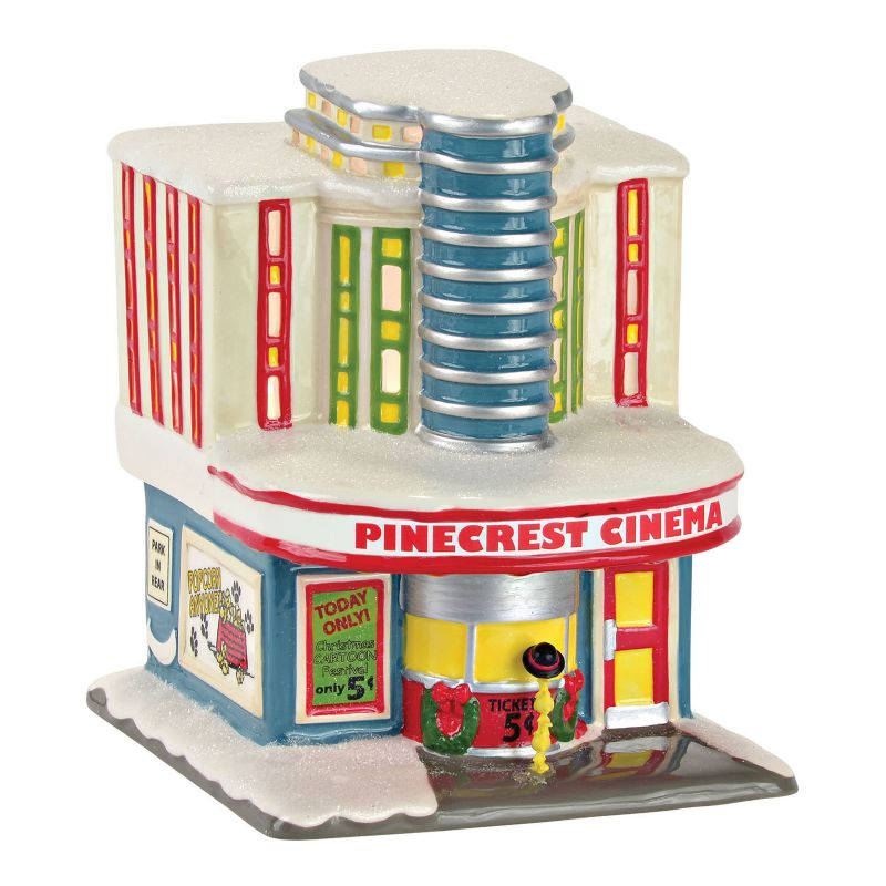 "Peanuts ""Pinecrest Cinema"" Christmas Decor by Department 56, Multicolor"