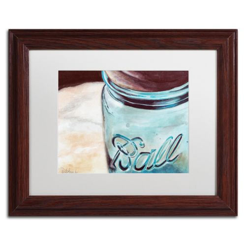 Trademark Fine Art Ball Jar Wood Finish Framed Wall Art