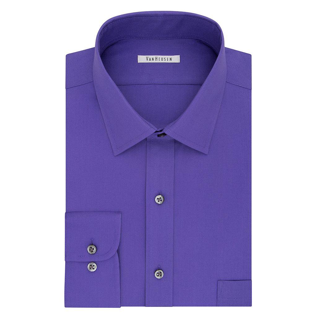 Big & Tall Van Heusen Regular-Fit Flex Collar Pincord Wrinkle-Free Dress Shirt