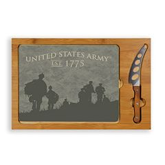 Picnic Time United States Army 3-Piece Icon Glass-Top Cutting Board Set