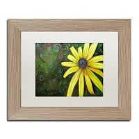 Trademark Fine Art Black Eyed Susan Birch Finish Framed Wall Art