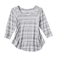 Girls 7-16 & Plus Size SO® Front Seams Swing Tee