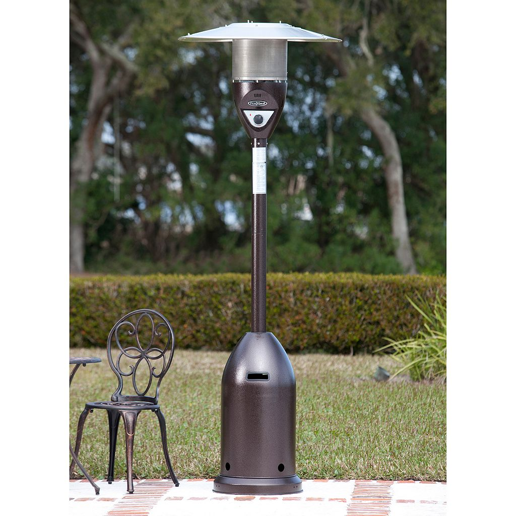 Fire Sense Hammered Bronze Finish Deluxe Patio Heater
