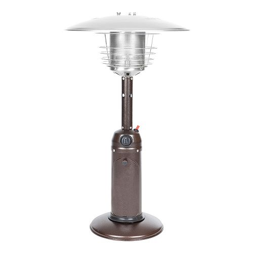 Fire Sense Hammered Bronze Tone Tabletop Patio Heater