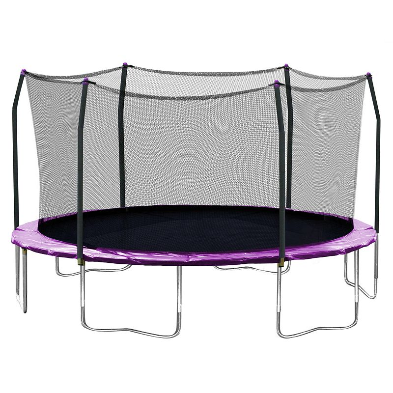 Skywalker Trampolines 17-ft. Oval Trampoline with Enclosure, Purple