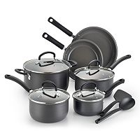 T-Fal Precision 12 pc Ceramic Hard Anodized Cookware Set