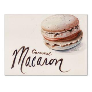 "Trademark Fine Art ""Caramel Macaron"" Canvas Wall Art"