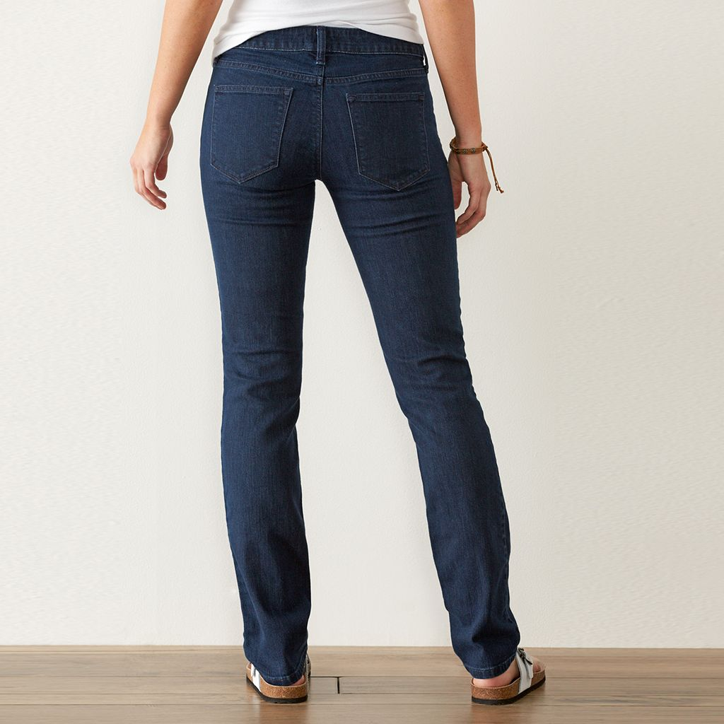 Women's SONOMA Goods for Life™ Slim Fit Straight-Leg Jeans