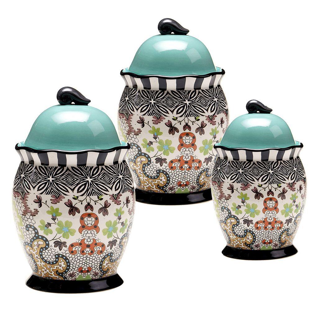 Tracy Porter Rose Boheme 3-pc. Ceramic Canister Set