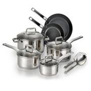 T-Fal Precision 12 pc Ceramic Stainless Steel Cookware Set