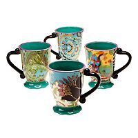 Tracy Porter Rose Boheme 4 pc Coffee Mug Set
