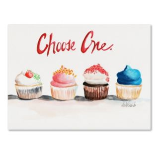Trademark Fine Art Choose One with Words Canvas Wall Art